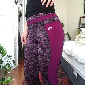 RBX purply-grey capri workout leggings